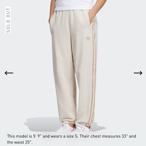 Adidas Oversized Cuffed Sweatpants in Linen